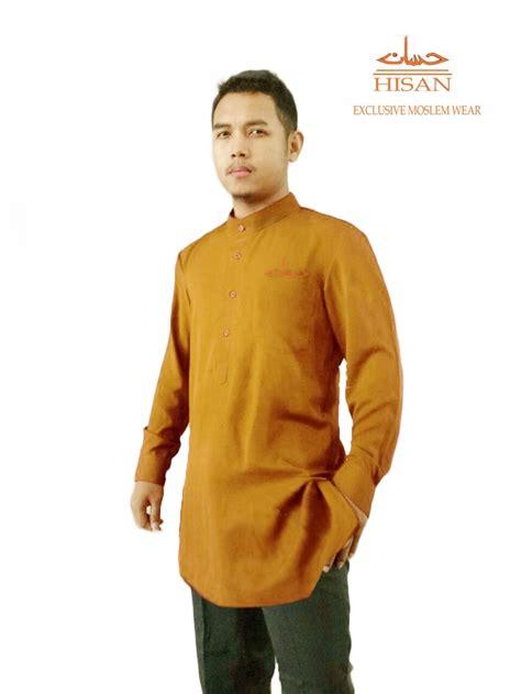 Baju Muslim Baju Koko Coklat jual baju koko model kurta hisan coklat di lapak hisan