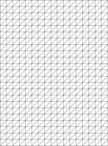isometric drawing paper template sketch coloring page