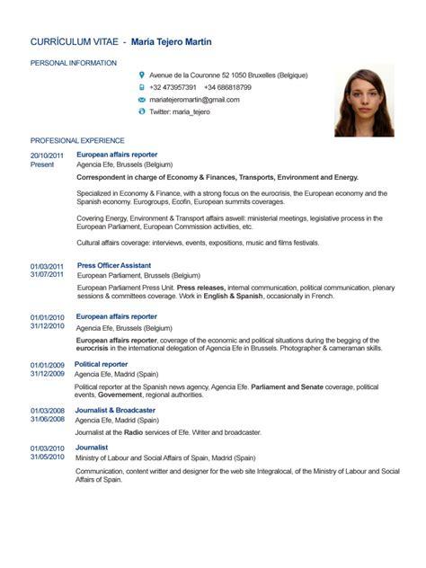 Job Resume Of Teacher by Cv English Mar 205 A Tejero Mart 205 N