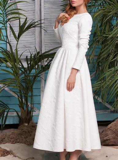 White Vintage Dress vintage white dress three quarter sleeves flared