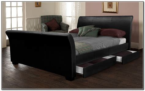 King Size Leather Sleigh Bed Image Gallery King Size Sleigh Bed