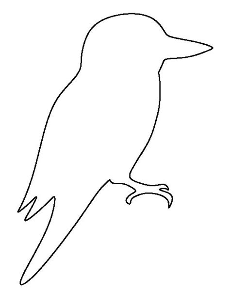 free australian will template kookaburra pattern use the printable outline for crafts