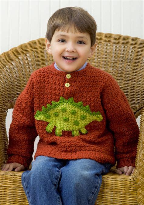 free knit pattern dinosaur sweater dinosaur sweater crochet pattern from red heart yarn