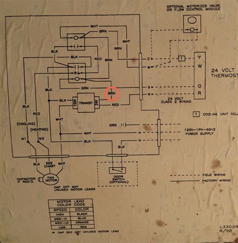 air handler wiring diagram thermostat where to add c wire on this air handler home improvement stack exchange