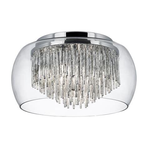 4 ceiling lights alera flush glass ceiling light 4 light chrome