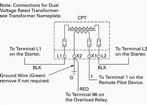 wiring  control power transformer  motor control