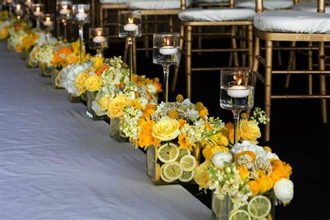 Red And Brown Wedding Decorations 15 Colorful Floral Arrangements With Lemons Creating