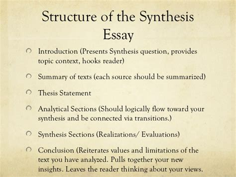 synthesis template synthesis essay presentation