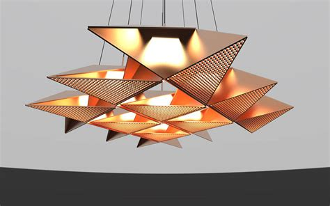 Origami Light Fixture Resch Origami Lighting Series Fubiz Media
