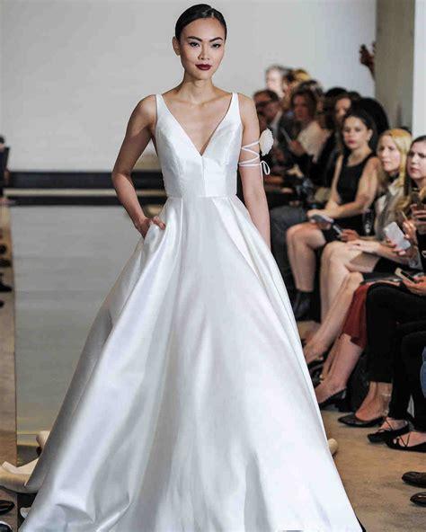 simple wedding dresses    plain chic martha
