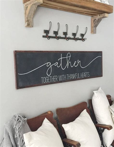 gather sign gather sign large dining room living room sign