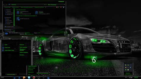 theme for windows 7 razer тема theme razer green t pimped by tb tо 187 оформление