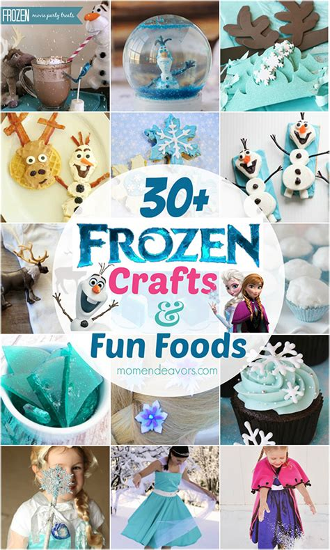 disney themed crafts for frozen food ideas