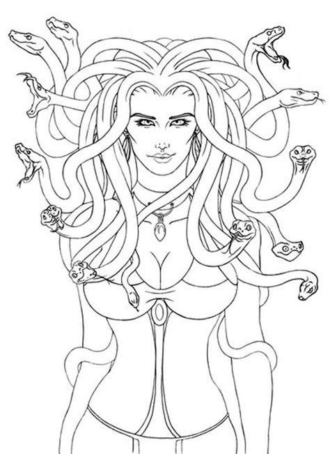 Lovely Picture of Medusa Coloring Page   NetArt