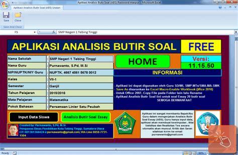 format analisis butir soal download aplikasi analisis butir soal dengan microsoft excel