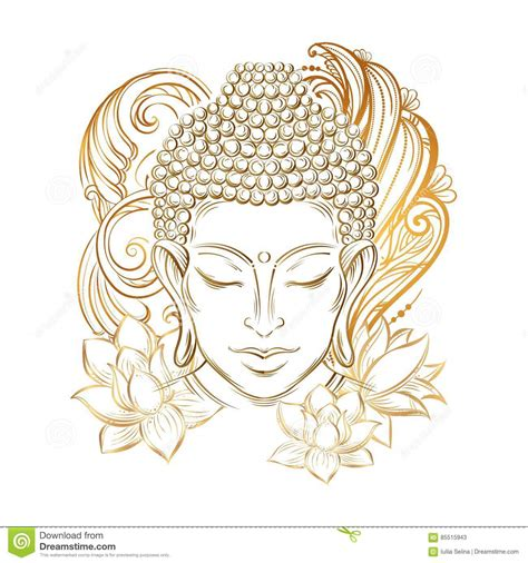 buddha s head tattoo stock illustration image 85515943