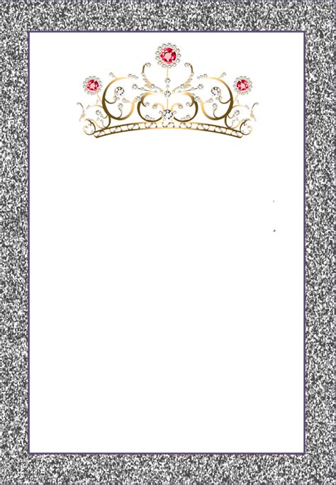 free printable crown invitations crowns free printable frames invitations or cards oh