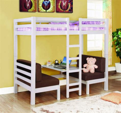 Bunk Bed With Play Area White Loft Bunk Conversion Bed With Play Area Bedroom Furniture