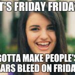 Rebecca Meme - rebecca black meme generator imgflip
