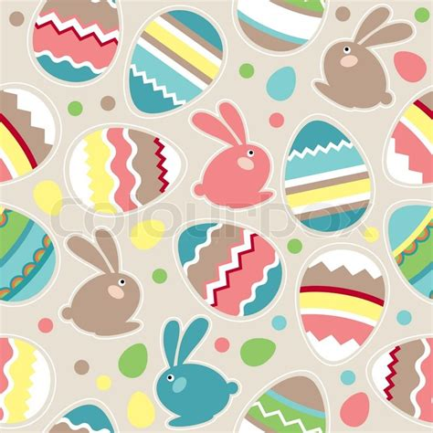 seamless egg pattern seamless spring pattern with easter eggs and rabbits
