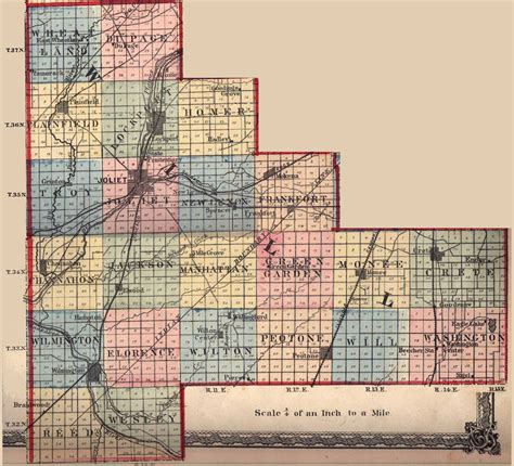 map of joliet il history of joliet illinois 1927 will county ilgenweb