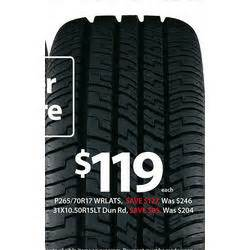 Walmart Tires Deals Goodyear P265 70r17 Wrlats Tire At Walmart Black Friday 2013