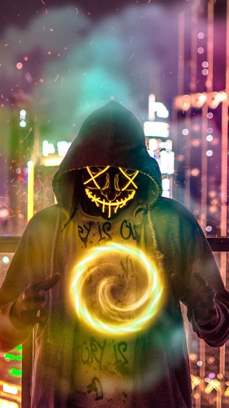 neon mask wallpaper  edeenabu    zedge
