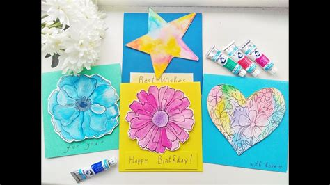 youtube watercolor christmas cards tutorials diy easy watercolor cards ideas greeting card tutorials part 1