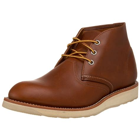 wing chukka boots wing work chukka rubbersoled leather boots in brown