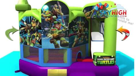 teenage mutant ninja turtles house tmnt ninja turtles bounce house houston youtube