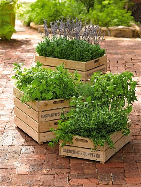 Wooden Crate Planters by New Crate Planter With Liner