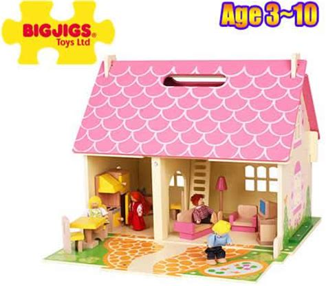 bigjigs dolls house furniture doll house bigjigs wooden blossom cottage 4 rooms furniture family crazy sales