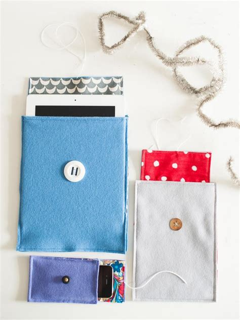 Handmade Tablet Covers - how to make a felt cover for a smart phone or tablet hgtv