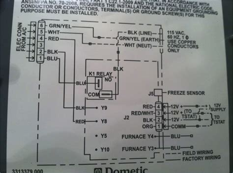 dometic thermostat wiring diagram wiring diagram with