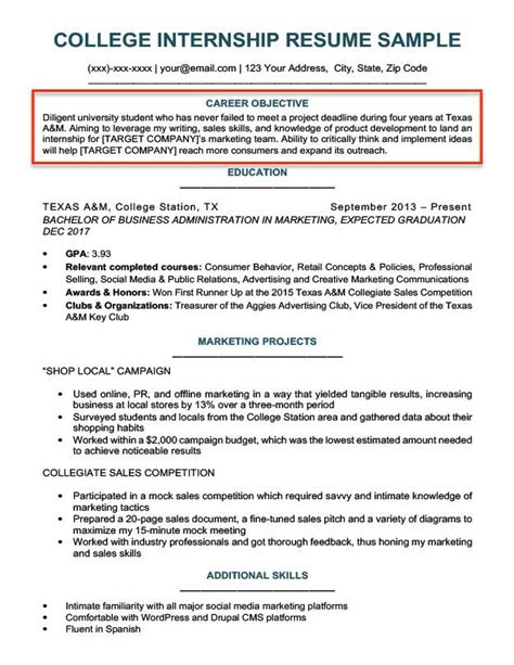 College Resume Objective by Resume Objective Exles For Students And Professionals Rc