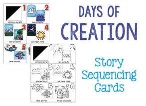 days of creation cards prekinders