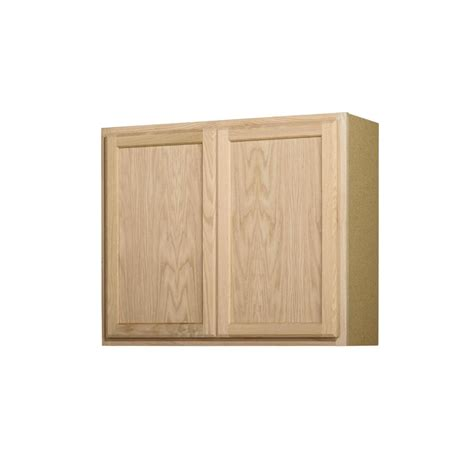 shop project source 36 in shop project source 36 in w x 30 in h x 12 in d unfinished door wall cabinet at lowes