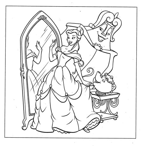 Free Printable Belle Coloring Pages For Kids Coloring Books