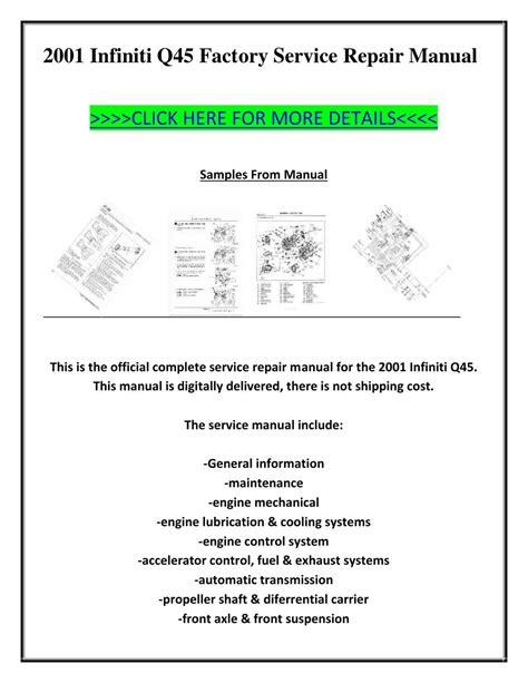 auto manual repair 1995 infiniti q navigation system 2001 infiniti q45 factory service repair manual by ion ion issuu