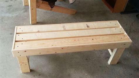 diy easy  build bench myoutdoorplans