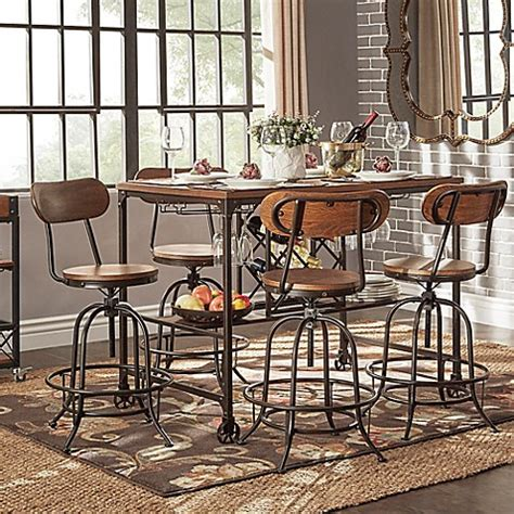 Verona 5 Set verona home crown oaks 5 counter height dining set