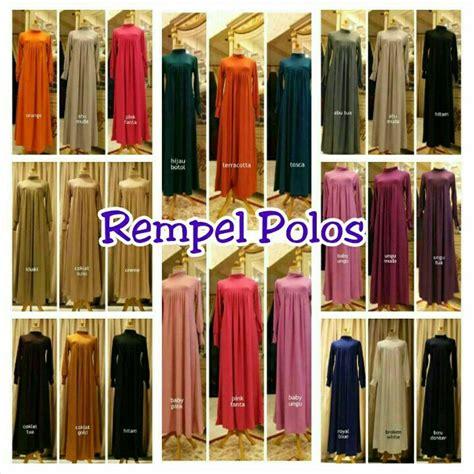 Fb Dress Jersey Murah by Jual Harga Suplier Gamis Dress Jersey Rempel Polos