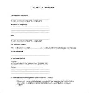 template employment contract doc 407527 free employment contract free basic