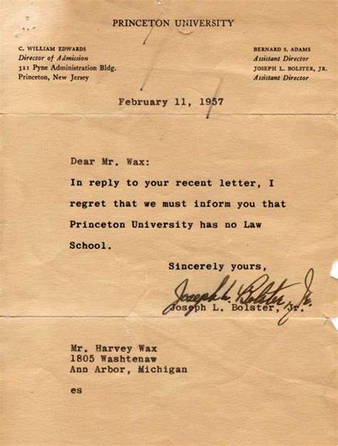 genesis debt management letters of note dear princeton school