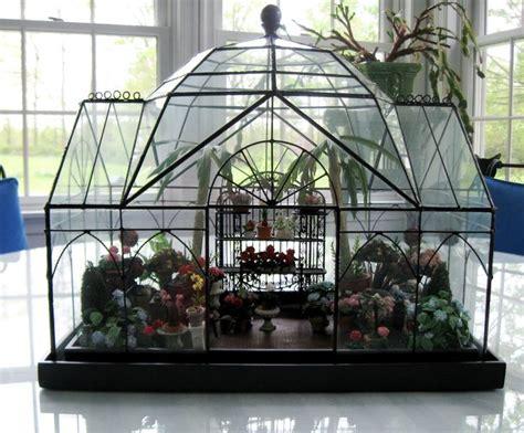 mini conservatory  smith  hawken terrarium miniature