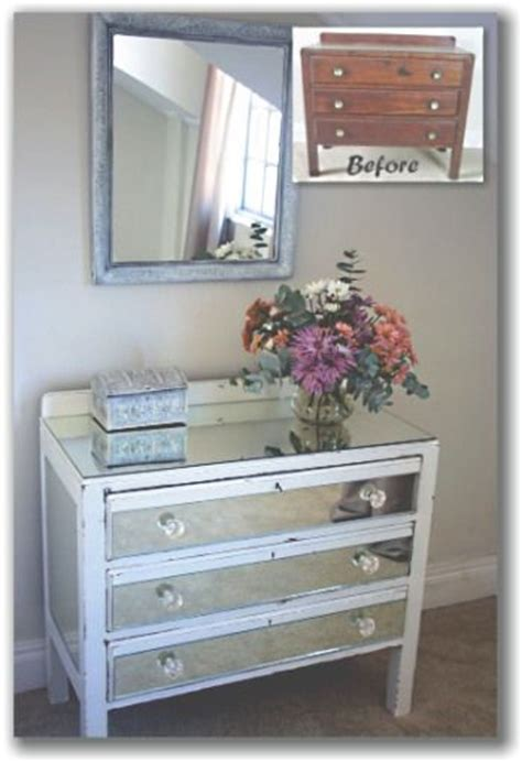 Diy Mirrored Dresser Drawers by Diy Mirrored Chest Of Drawers Mirrored Furniture