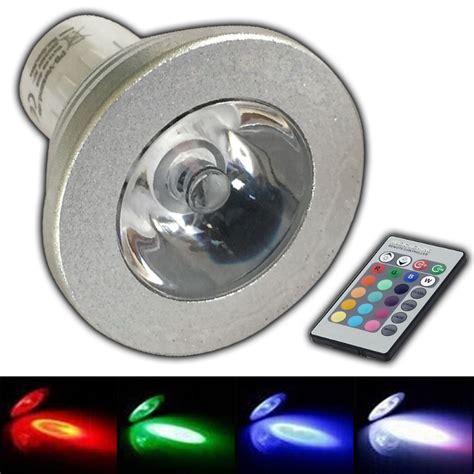 led beleuchtungsk rper gu10 rgb farblicht led 4w fernbedienung farbwechsel
