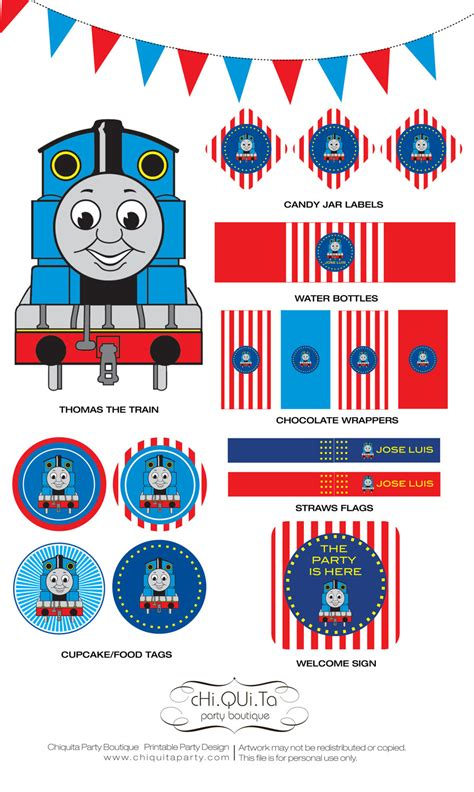 printable train party decorations printable thoma s the train birthday party pdf 15 76