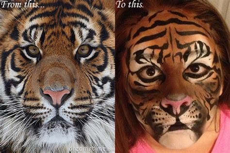 Realistic Tiger by chezmeister0 on DeviantArt Realistic Tiger Makeup