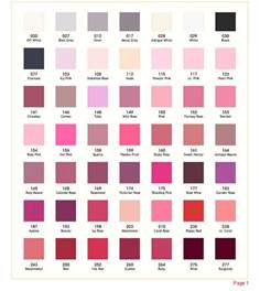 pink color names finalstep stole color chart01